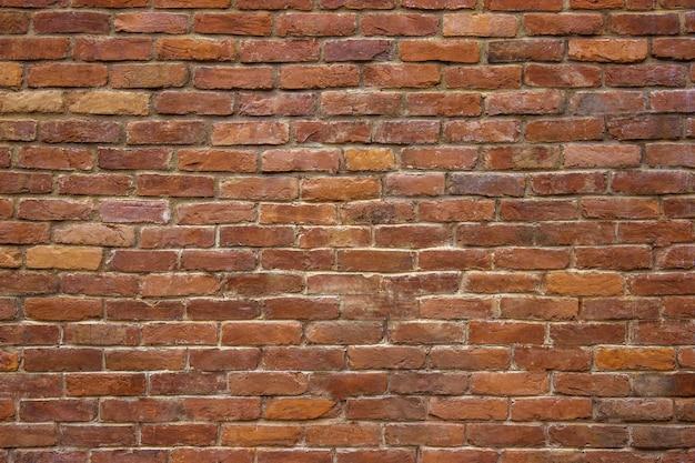 Antyczna ceglana ściana tekstur kamienna fasada budynku