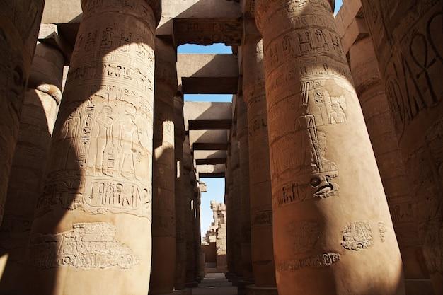 Antyczna karnak świątynia w luxor, egipt