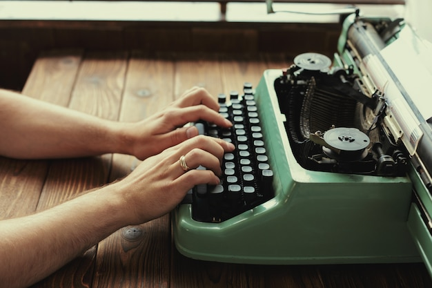 Antyczna maszyna do pisania, vintage maszyna do pisania