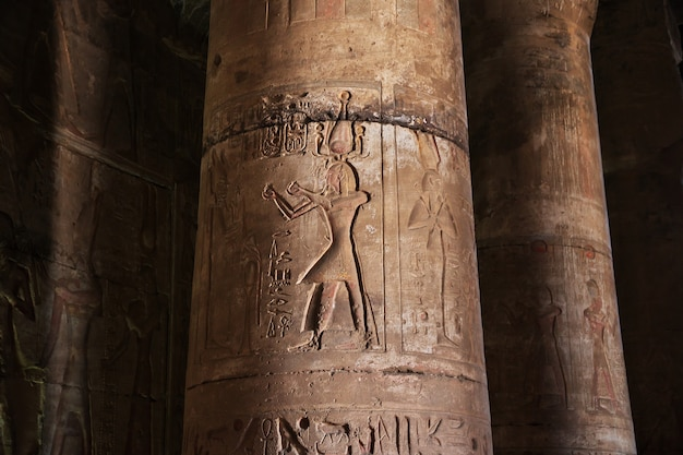 Antyczna świątynia abydos w saharze, egipt