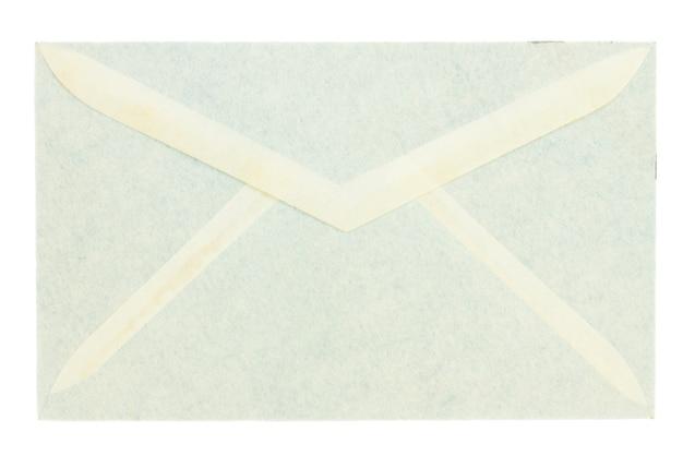Antyczna zamknięta koperta na białym tle