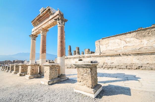 Antyczne ruiny pompeii, włochy