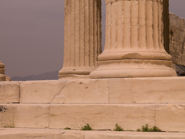 Antyczne ruiny w ateny grecja