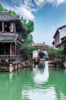 Antyczni Budynków Domy W Wuzhen Chiny Premium Zdjęcia