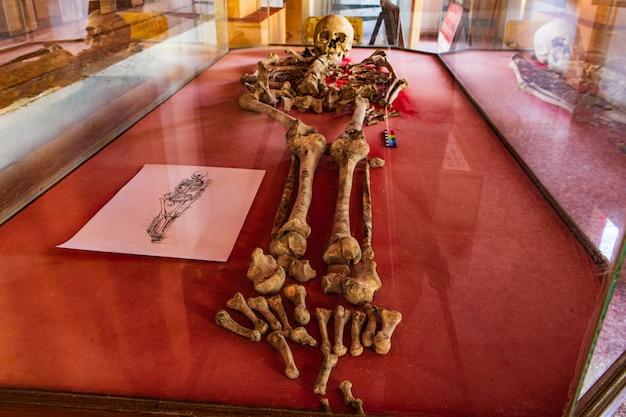 Antyczni ludzcy szkielety znajdujący w tajlandia.