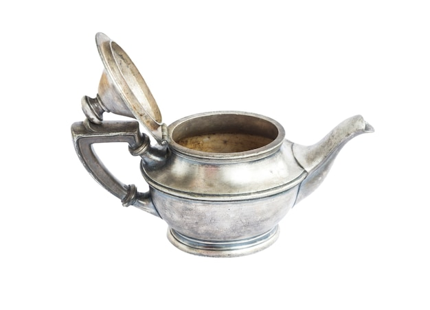 Antyczny srebrny czajniczek