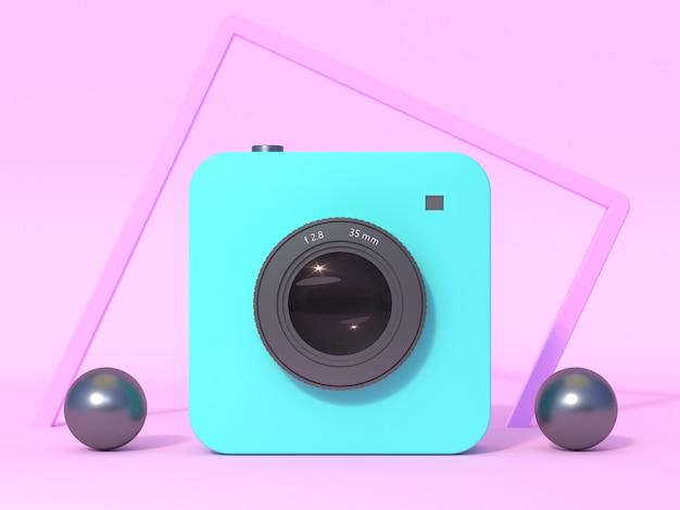 Aparat cyfrowy technologia renderowania 3d fotografia koncepcja