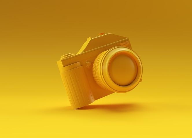 Aparat slr renderowania 3d na ilustracji kolor.