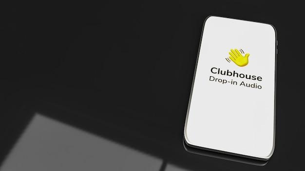 Aplikacja clubhouse do włączania czatu audio na renderowanie 3d smartfona