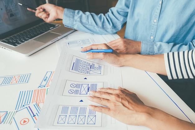Aplikacja creative web designer do planowania i opracowywania układu szablonu
