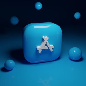 Aplikacja logo sklepu z aplikacjami 3d