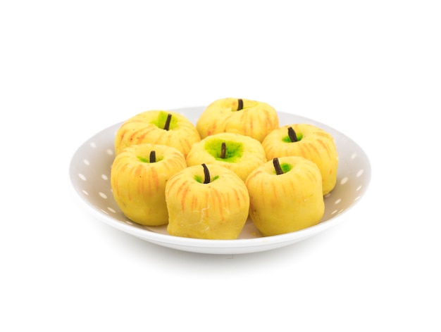 Apple shaped indian dry sweet peda