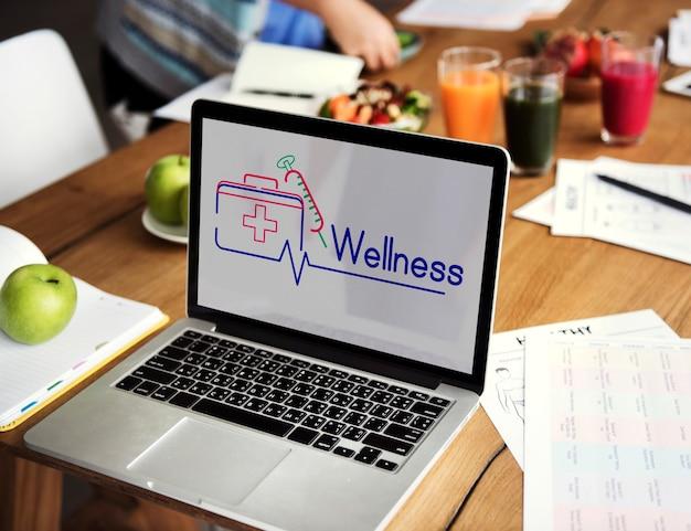 Apteczka pierwszej pomocy grafika leczenia opieki zdrowotnej