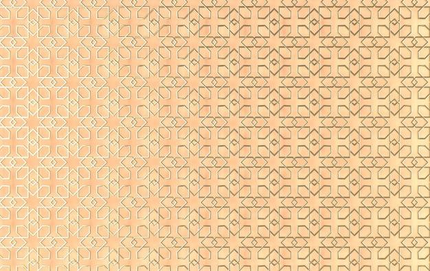 Arabska złota geometryczna arabeska ramadan renderowana ilustracja