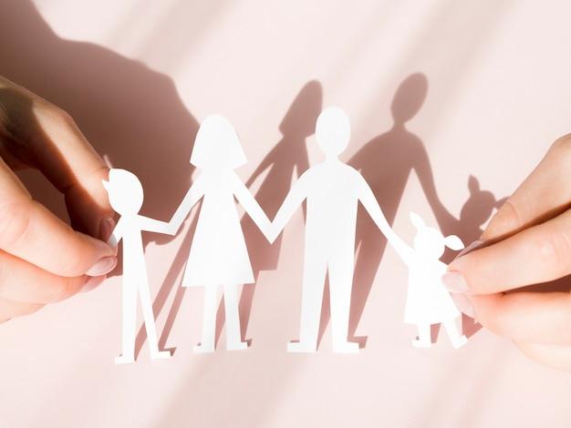 Aranżacja koncepcji rodziny z cieniami
