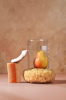 Aranżacja naturalnych produktów do pielęgnacji