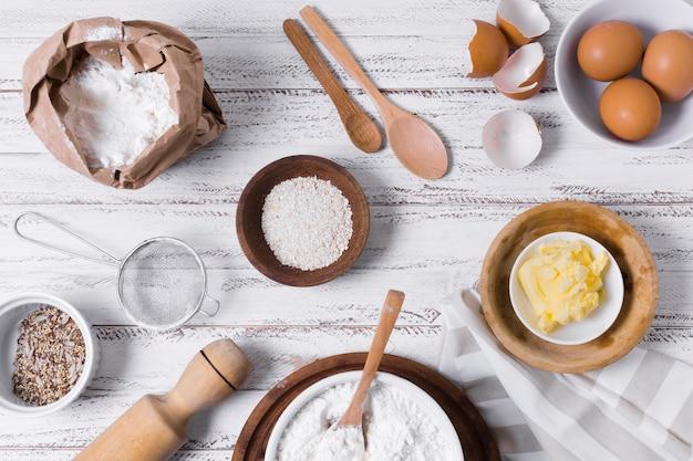 Aranżacja płaskiego chleba domowej roboty