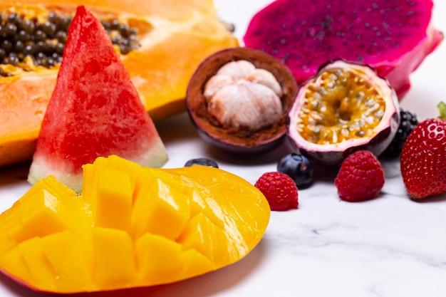 Aranżacja Pysznych Egzotycznych Owoców Darmowe Zdjęcia