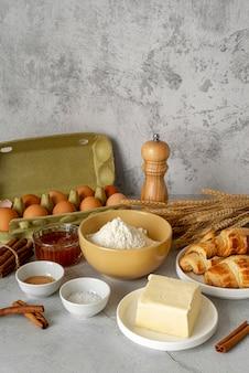 Aranżacja pysznych potraw i składników