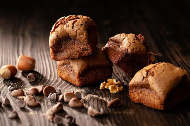 Aranżacja pysznych słodkich ciast