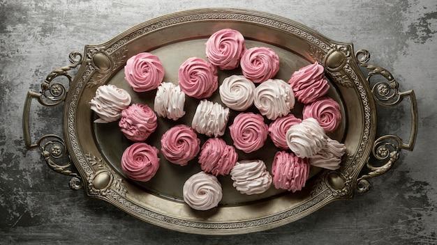 Aranżacja pysznych słodkich smakołyków