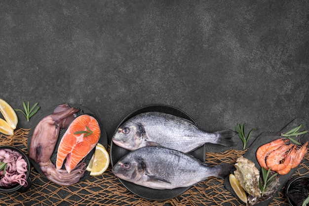 Aranżacja różnych typów przestrzeni kopiowania ryb
