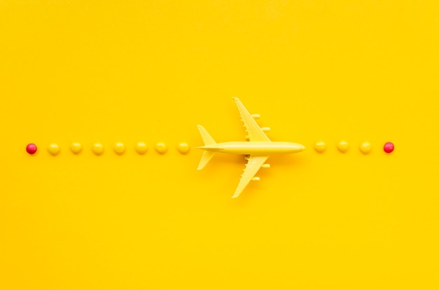 Aranżacja samolotu i słodyczy
