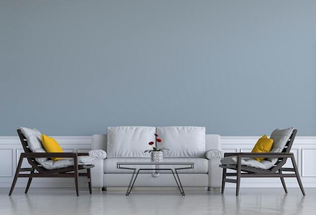 Aranżacja wnętrza salonu lub recepcji z fotelem