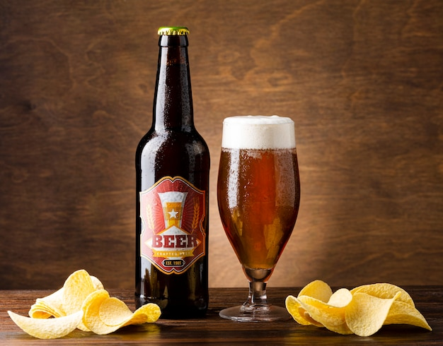 Aranżacja z pysznym amerykańskim piwem