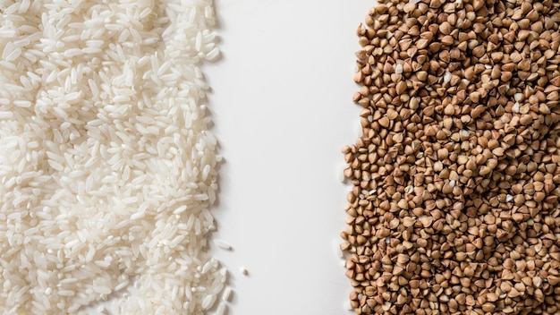 Aranżacja z różnymi składnikami organicznymi