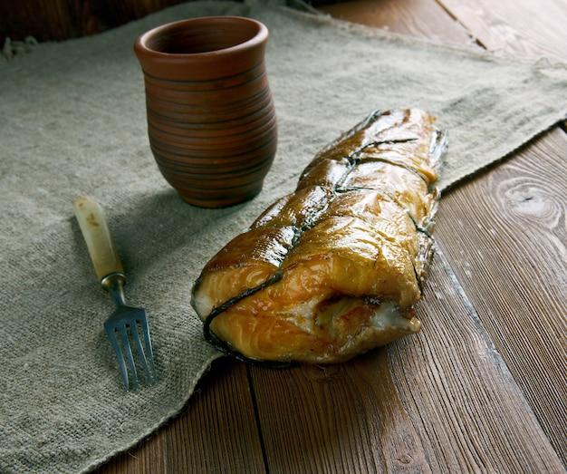 Arbroath wędzonego plamiaka arbroath w angus w szkocji.