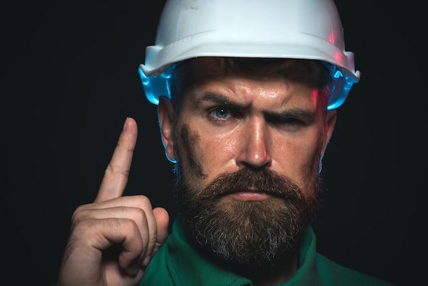 Architekt pracownik inżynier pracy pracownik przemysłowy ciężka praca człowiek budowniczy budowniczy w ochronie