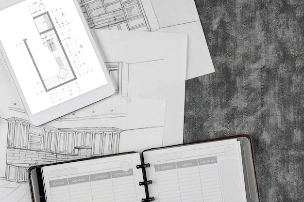 Architektoniczna przebudowa na zamówienie w projekcie kuchni sprawia, że kuchnia jest procesem rysowania planu projektowego