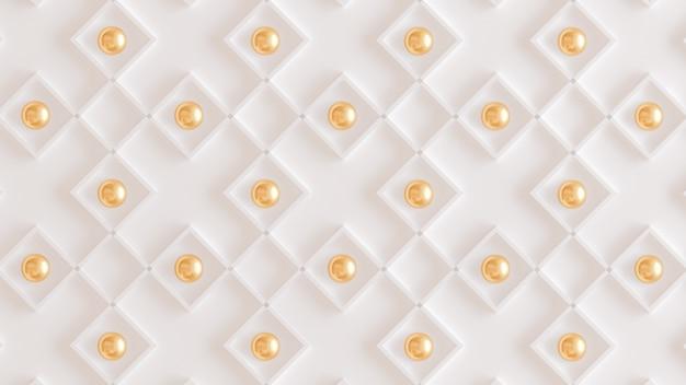 Architektoniczny wzór wnętrza, biała, żółta, złota ściana tekstur. renderowania 3d.