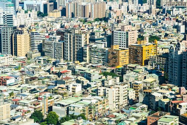 Architektura budynku powierzchowność w taipei mieście w tajwan