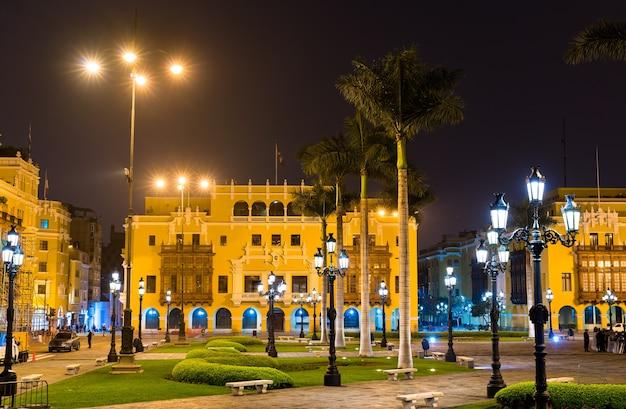 Architektura plaza de armas w limie peru