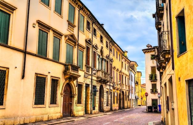 Architektura starego miasta vicenza włochy