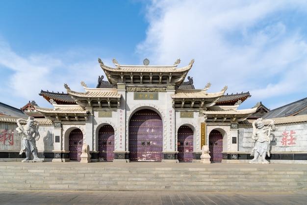 Architektura świątyni na górze wutai w prowincji shanxi w chinach