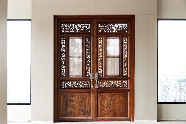 Architektura tradycja tajlandzki wzór świątynni drzwi, tło i tekstura ,.