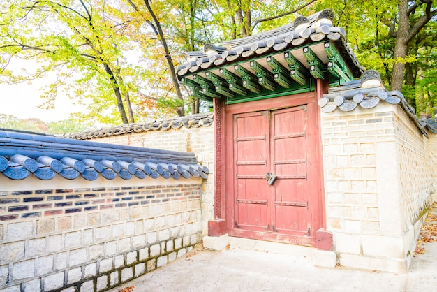Architektura w changdeokgung palace w seulu city w korei