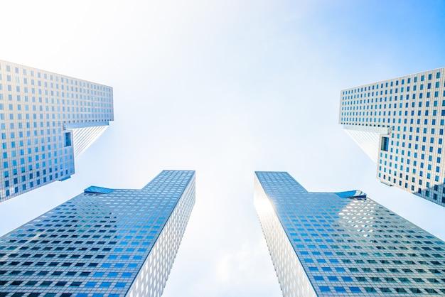 Architektura widok odbicie światła singapur