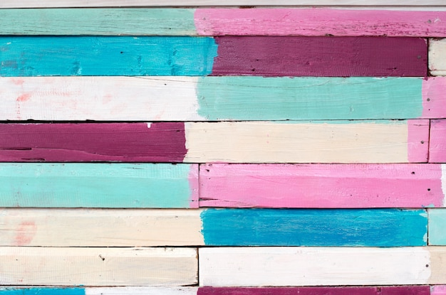 Archiwalne kolorowe tło tekstury drewna