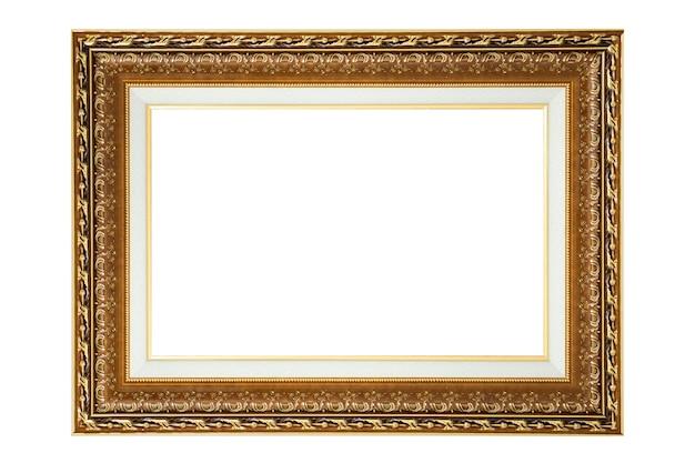 Archiwalne ramki na zdjęcia i zdjęcia na białym tle