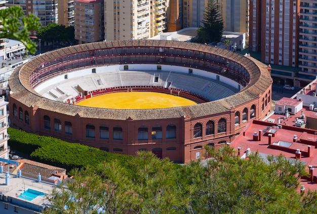 Arena walki byków w maladze, andaluzja (hiszpania).