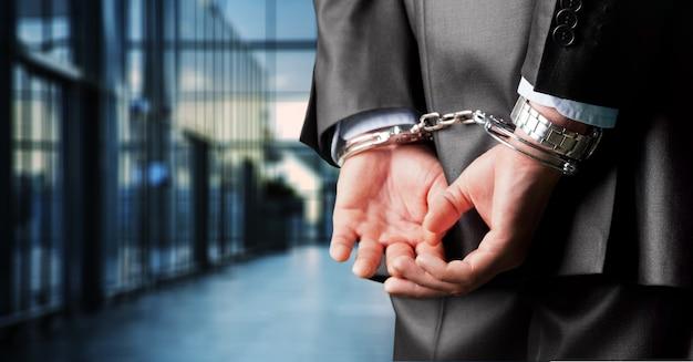 Aresztowanie związane bransoletka przekupstwo biznesmen przekupstwo