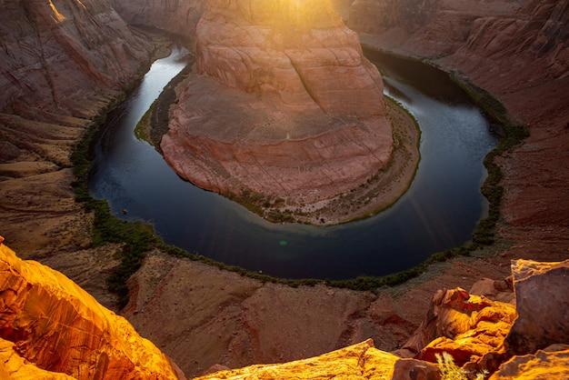 Arizona horseshoe bend rzeki kolorado w wielkim kanionie.