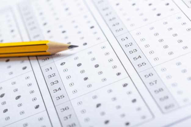 Arkusz wyników testu z odpowiedziami