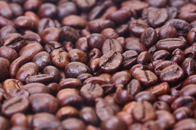 Aromat tło ziaren kawy
