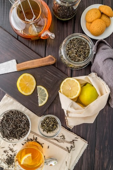 Aromatyczna herbata z cytryną