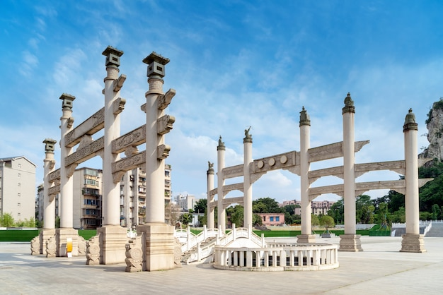 Art arch, chiński klasyczny styl architektoniczny.